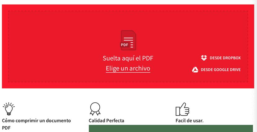 Reduce el tamaño de archivos PDF con SmallPDF sin aplicaicones de terceros