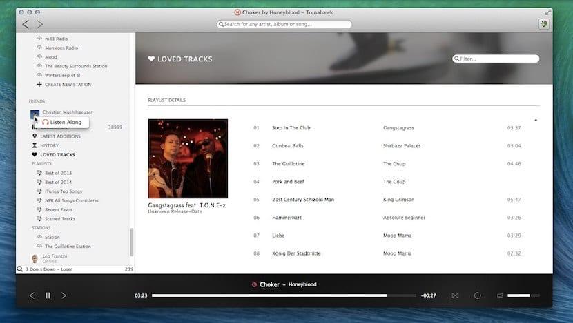 Tomahawk nos ofrece un gran número de opciones para reproducir música