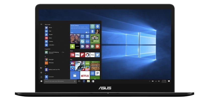 Frontal del ASUS ZenBook Pro UX550