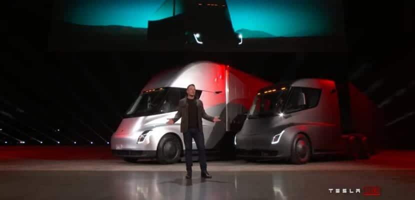 Elon Musk en presentación del Tesla Semi