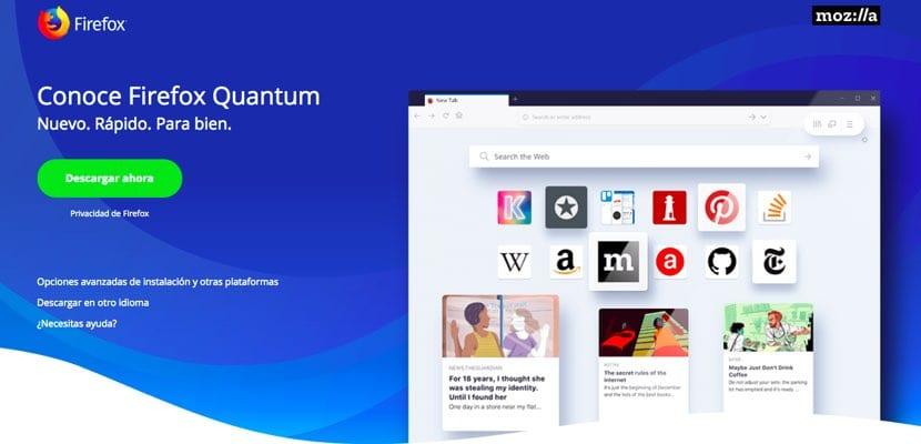 Firefox Quantum disponible para descargar