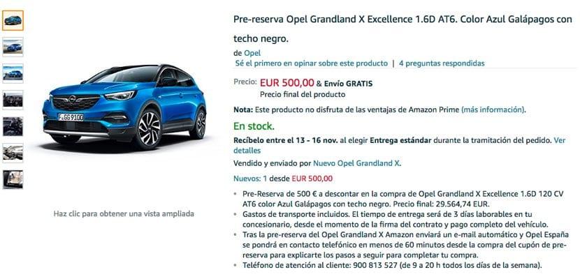 Opel GrandLand X venta en Amazon España