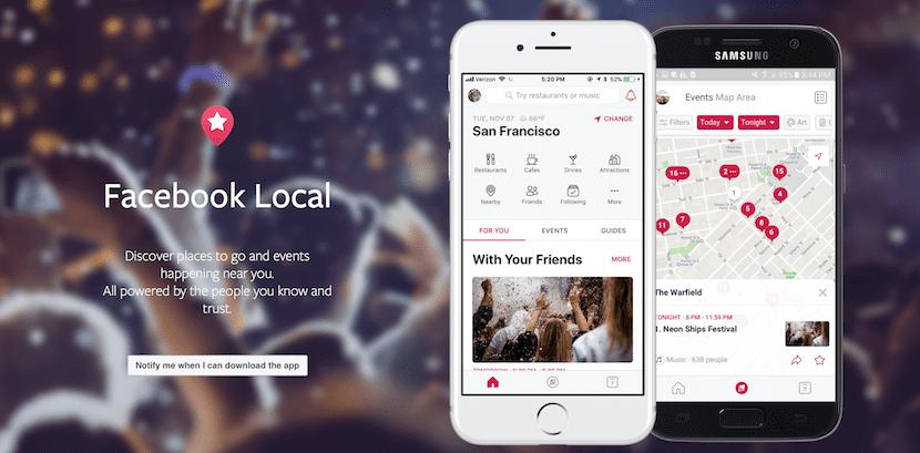 Facebook presenta Local, su nueva aplicación de eventos