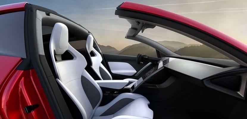 Tesla Roadster de segunda generación vista interior