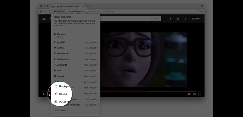 Chrome 64 beta videos mute