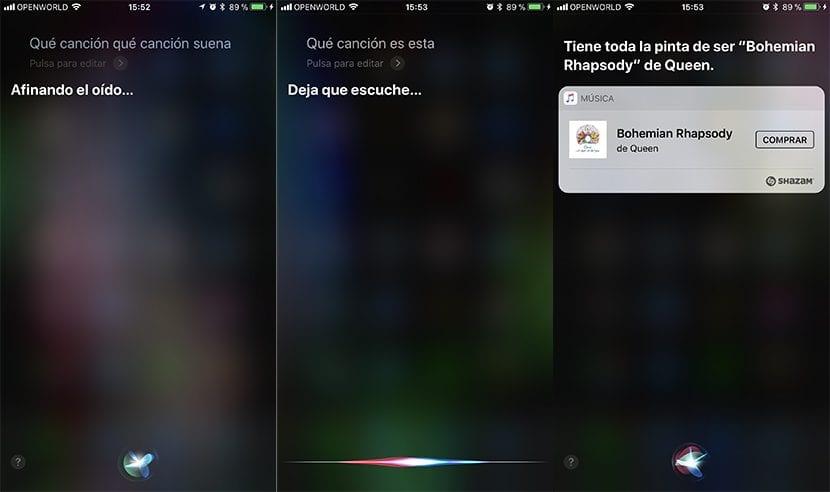 Reconocer canciones en iPhone con Siri