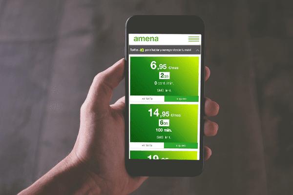 Las mejores tarifas de móvil de Amena