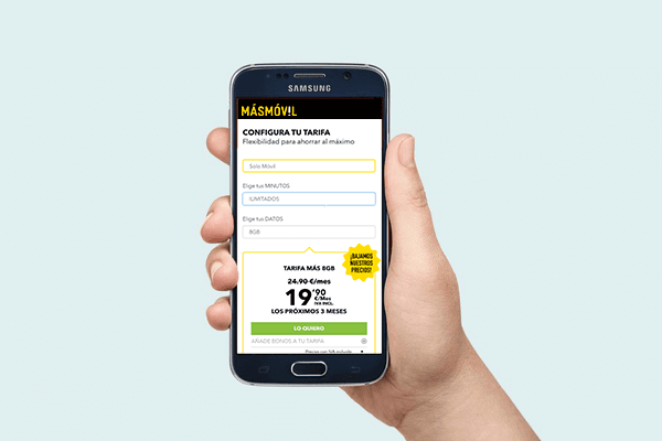 Las mejores tarifas de móvil de MásMóvil