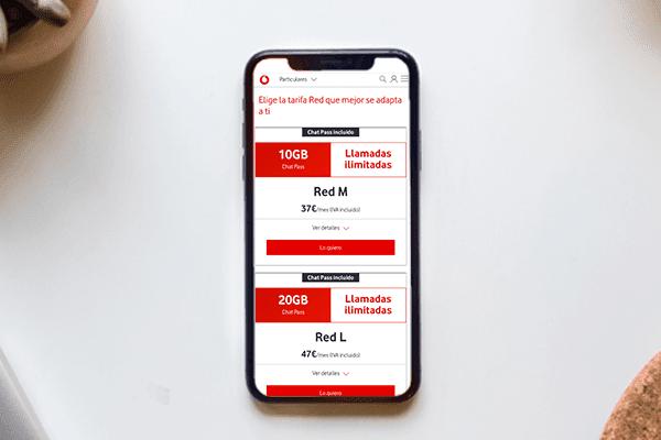 Las mejores tarifas de móvil de Vodafone