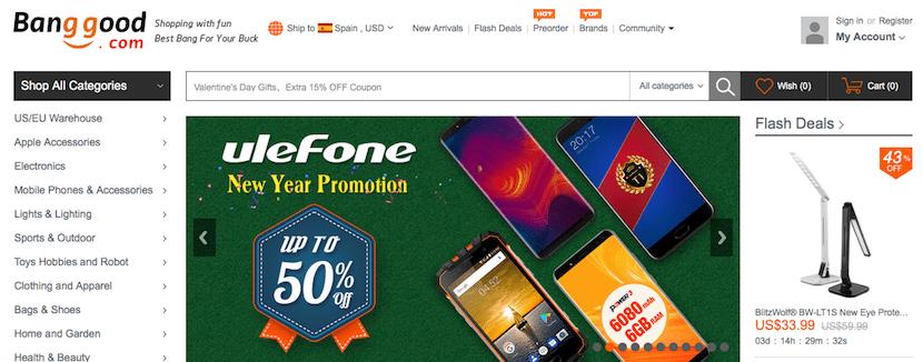 Banggood - tienda online de móviles baratos