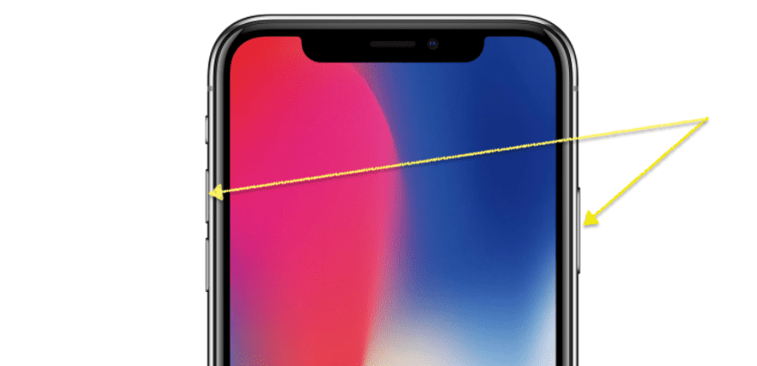 Como hacer capturas de pantalla en un iPhone X