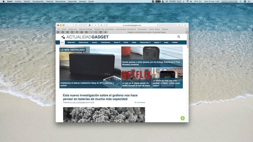 Captura pantalla completa en Mac
