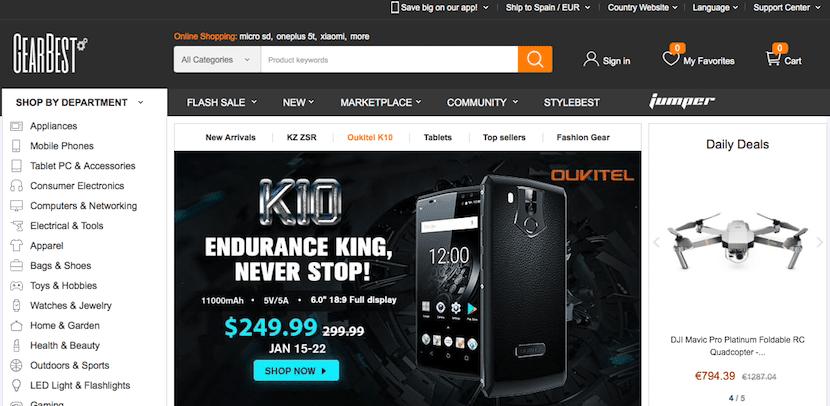 Gearbest - tienda online de móviles baratos