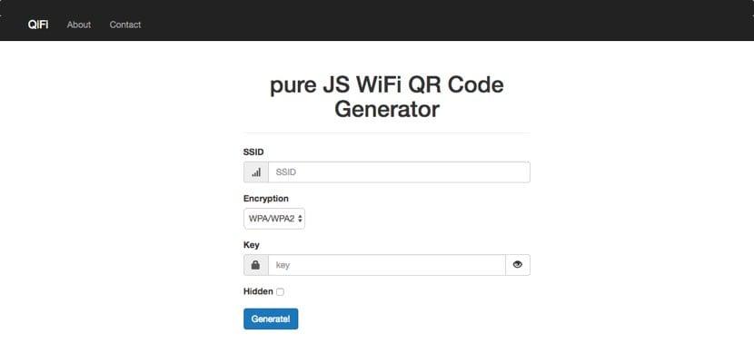 Cómo generar code QR con conexión WiFi casa