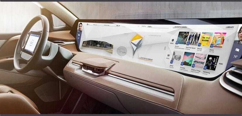 interior del SUV Byton CES 2018
