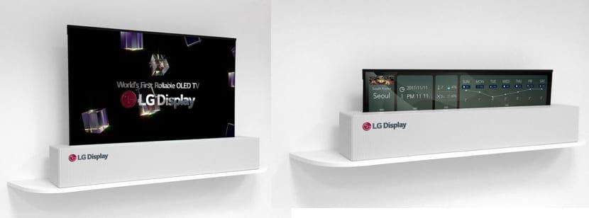 Resultado de imagen de Rollable OLED TV de 65 pulgadas