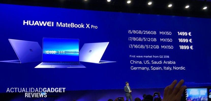 Precios del Huawei MateBook X Pro