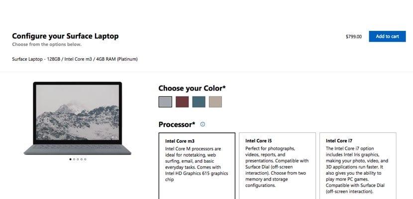 Surface Laptop modelo básico en USA