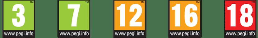 Claisificación Pegi videojuegos