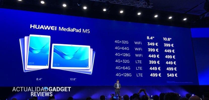 Huawei MediaPad M5 precios