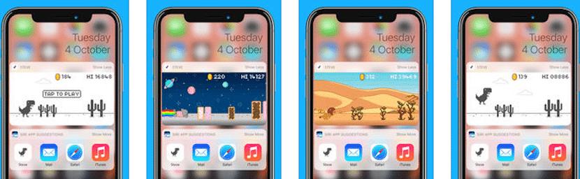 Jugar al dinosaurio de Chrome en el iPhone