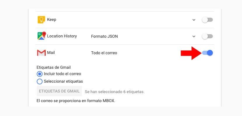 Copia seguridad Gmail herramienta Google