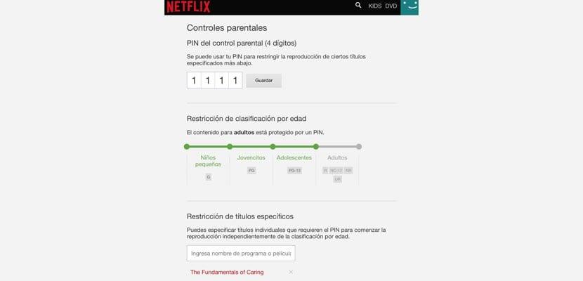 Control parental mejorado Netflix