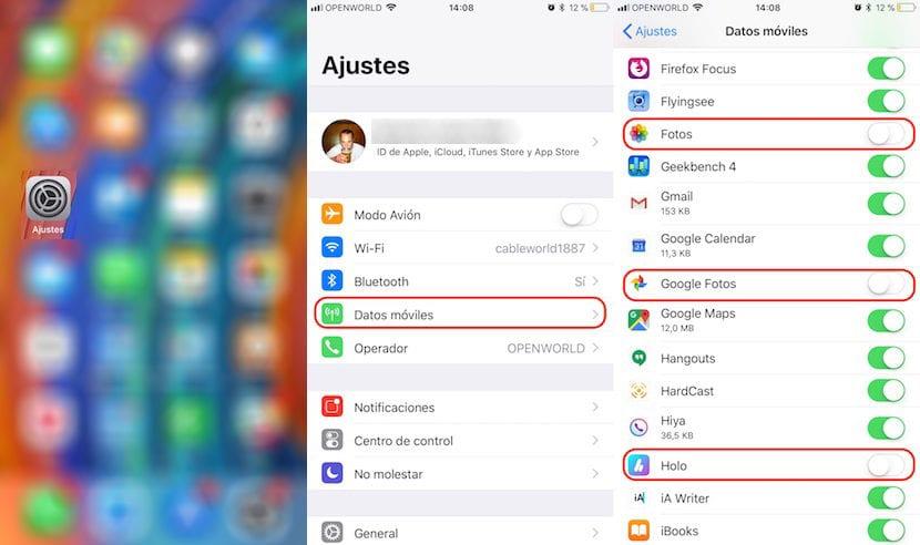 Cuantos datos consumen las aplicaciones en iOS