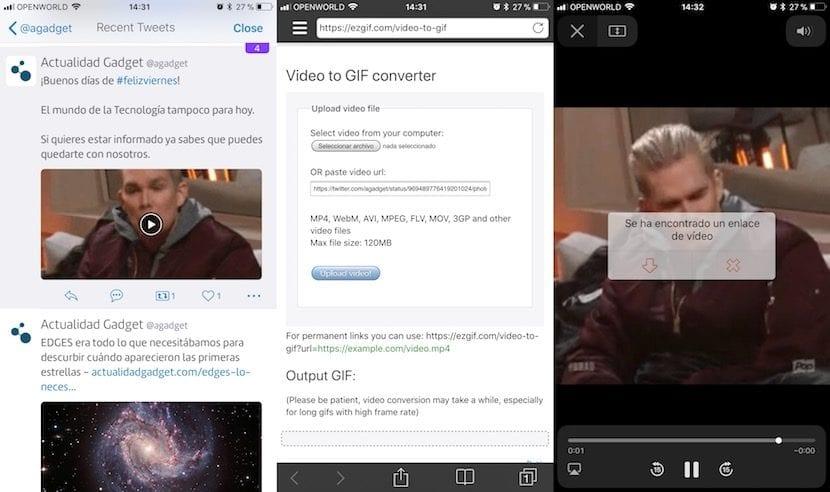 Descargar vídeos y GIFs de Twitter con el iPhone