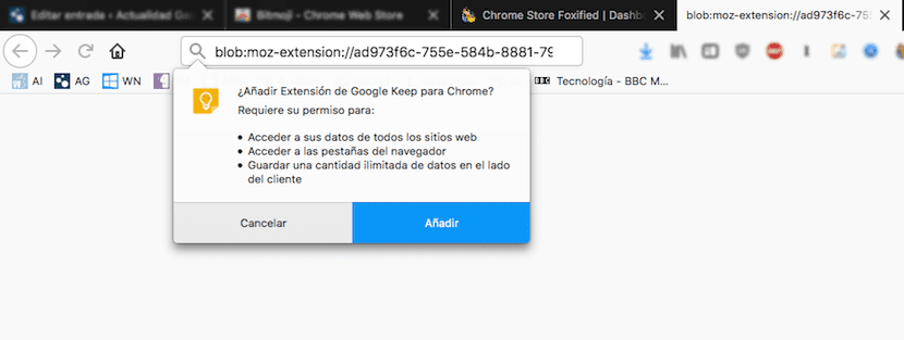 Extensiones de Chrome en Firefox