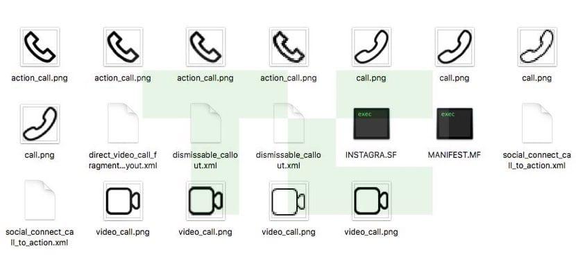iconos llamadas Instagram Android