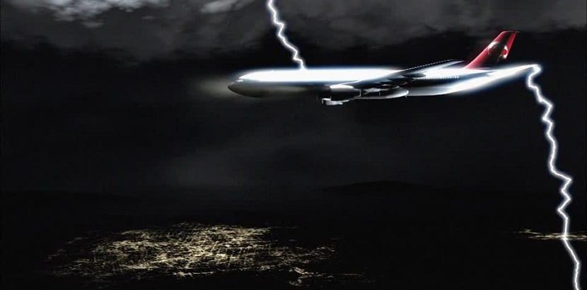 avión rayo