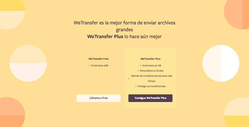 Enviar archivos grandes con WeTransfer