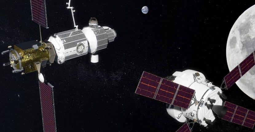 Estacion espacial lunar