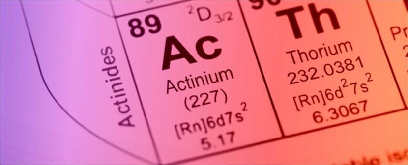 actínidos