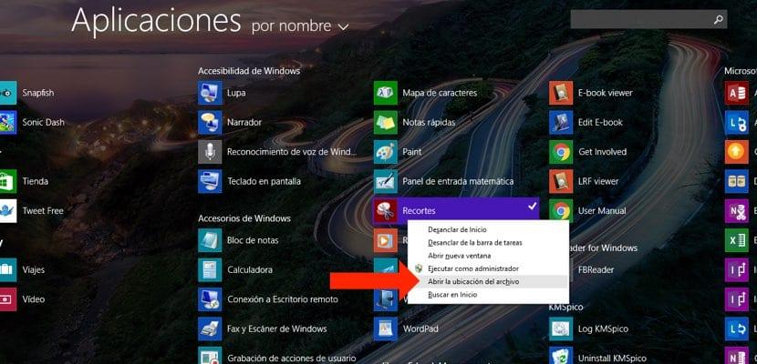 aplicación Recortes en Metro UI Windows 8
