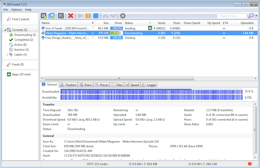 BitTorrent, cliente Torrent para Windows, Mac y Linux