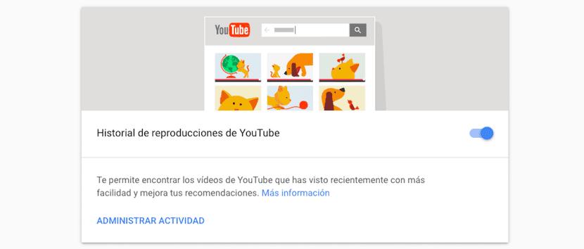 Borrar historial de reproducciones de YouTube