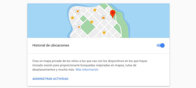 Borrar historial ubicaciones de Google