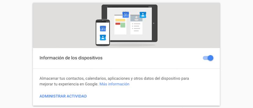 Borrar información de los dispositivos de Google
