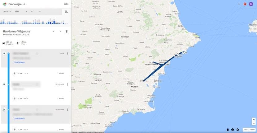 Consultar historial de ubicaciones de Google Maps en PC / Mac