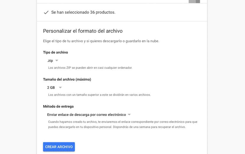Descargar una copia de todos nuestros datos de Google