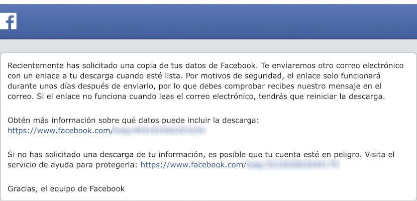 Descargar una copia de todos nuestros datos de Facebook