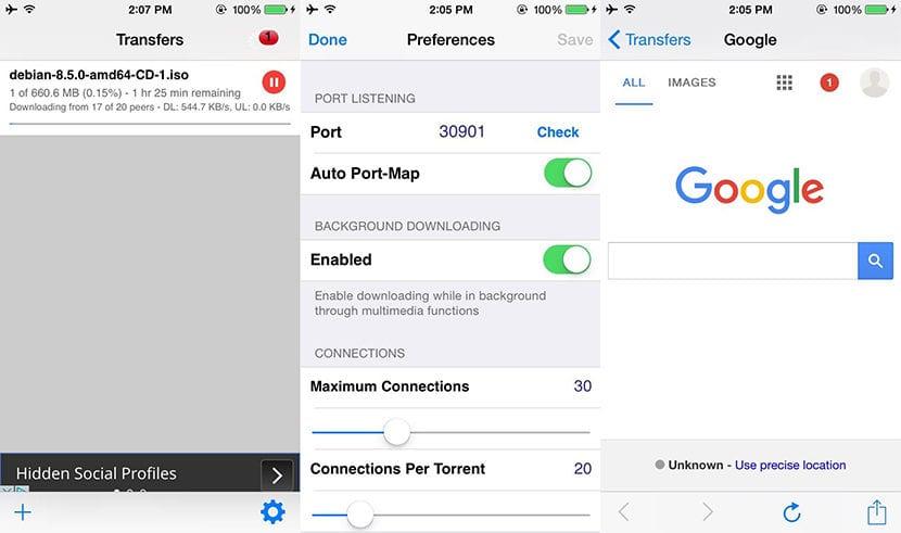 Descargar archivos torrent con el iPhone o iPad