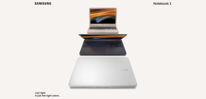 Samsung Notebook 3 colores