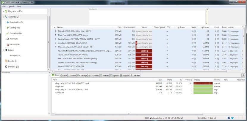 uTorrent, cliente de Torrent