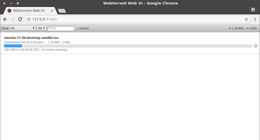 WebTorrent, cliente web torrent