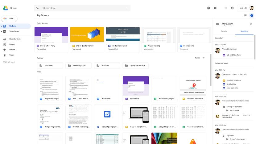 Google Drive diseño