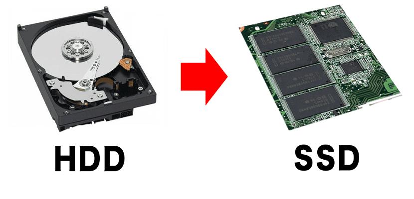 HDD y SSD almacenamiento