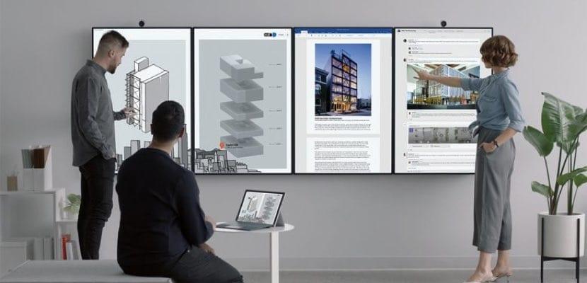 Reunión con Surface Hub 2 de Microsoft